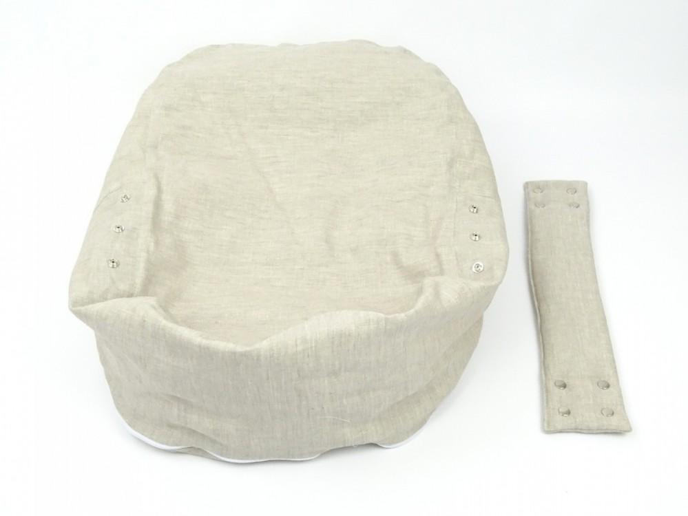 Pelíšek pro miminko 100% LEN přírodní 3