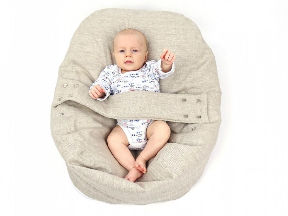 Pelíšek pro miminko 100% LEN přírodní