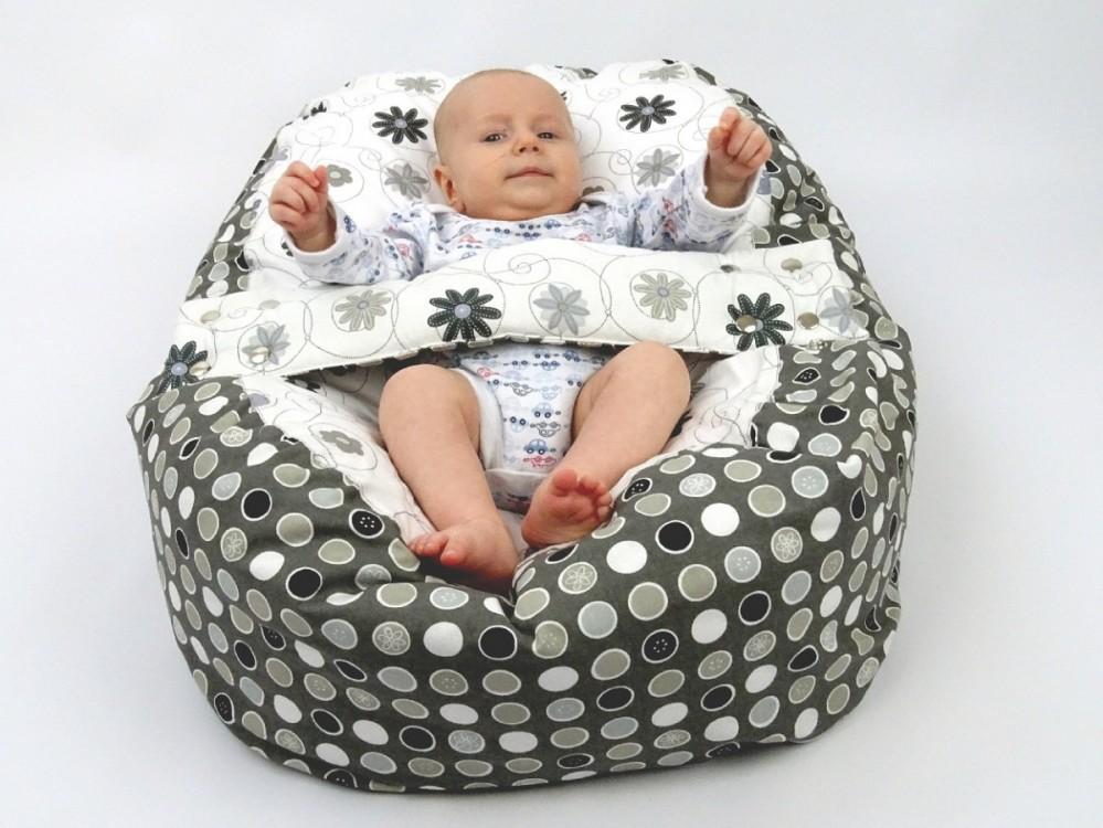 Pelíšek pro miminko LOUKA ČERNOBÍLÁ, 100% bavlna 2