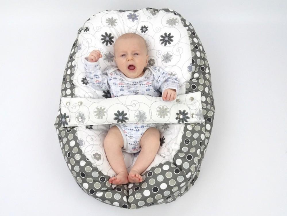 Pelíšek pro miminko LOUKA ČERNOBÍLÁ, 100% bavlna