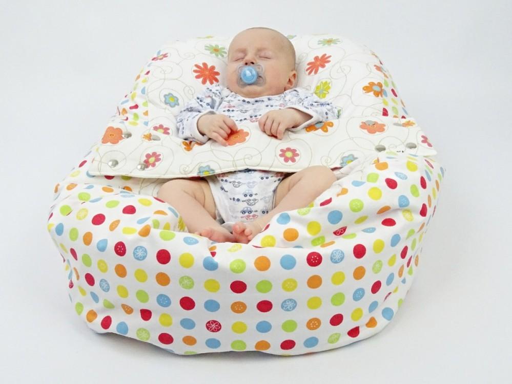 Pelíšek pro miminko LOUKA ORANŽOVÁ, 100% bavlna 1