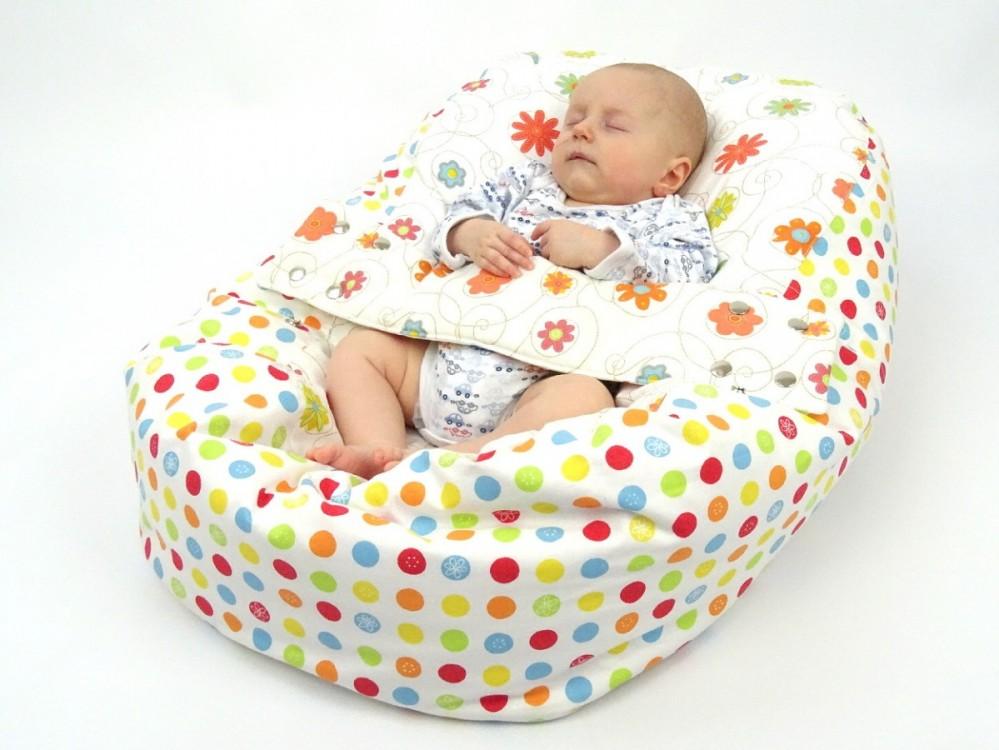 Pelíšek pro miminko LOUKA ORANŽOVÁ, 100% bavlna 2