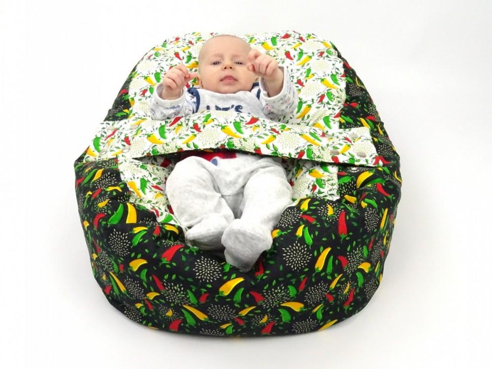 Pelíšek pro miminko Papričky, 100% bavlna