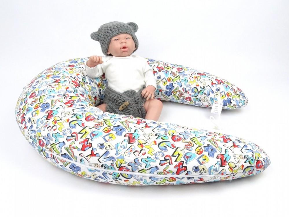 Kojící polštář MAXI Grafitti, 100% bavlna