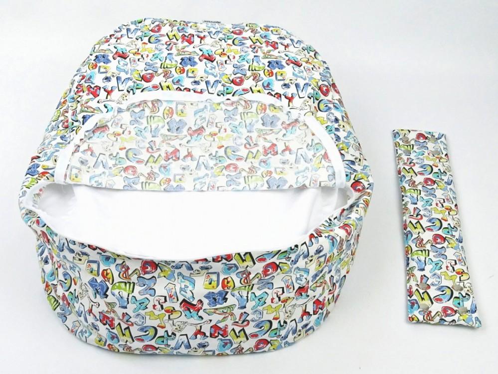 Náhradní potah, na pelíšek pro miminko GRAFITTI 100% bavlna č.4