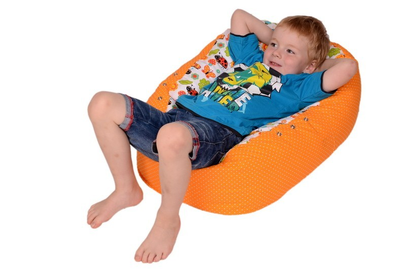 Relaxační vak pro děti, BERUŠKA ORANŽOVÁ, 100% bavlna