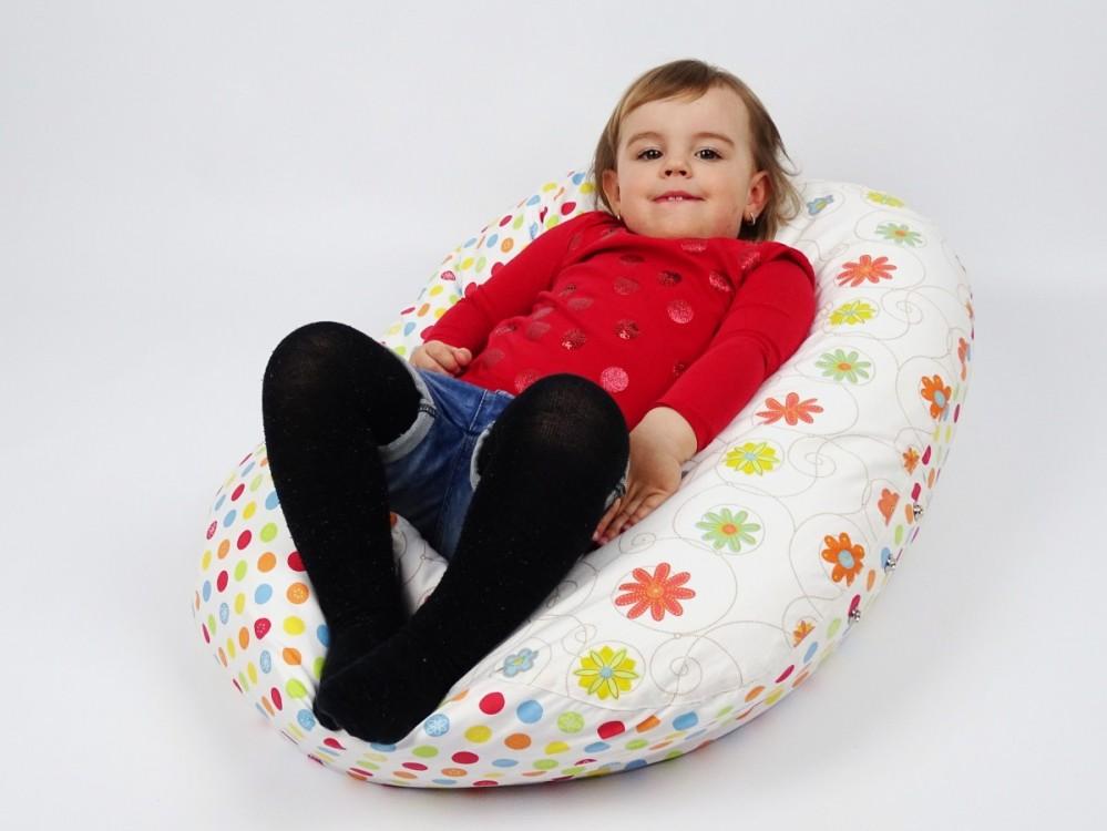 Pelíšek pro děti LOUKA ORANŽOVÁ, 100% bavlna