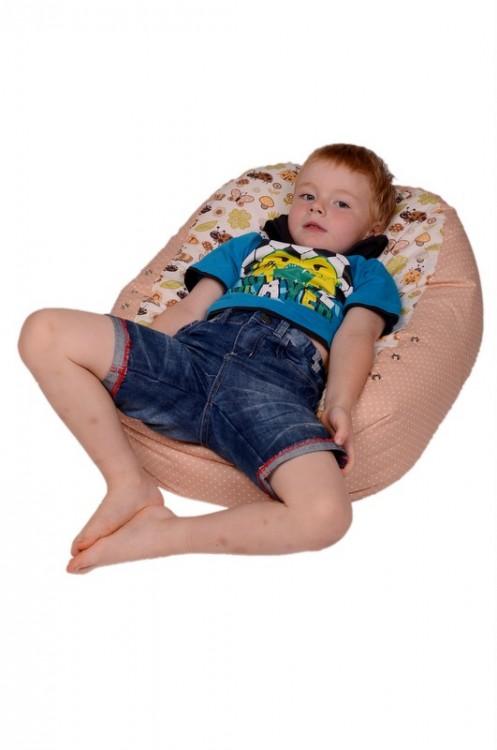 Relaxační vak pro děti BERUŠKA BÉŽOVÁ, 100% bavlna