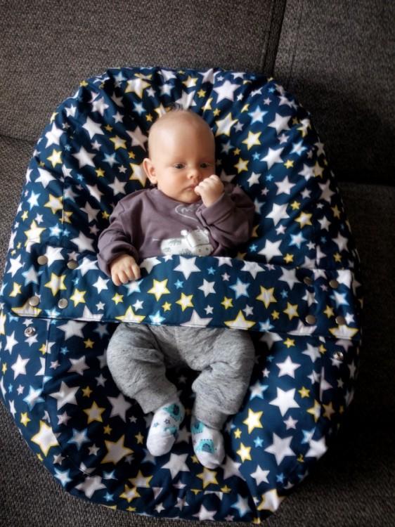 Paní Kráílová - pelíšek (vak) pro miminko, hvězdy modré