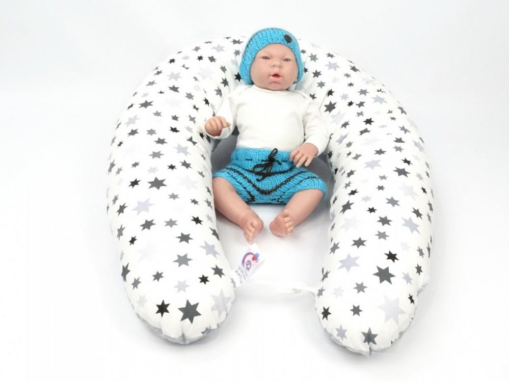 Multifunkční, kojící polštář MAXI STARS, 100% bavlna 1