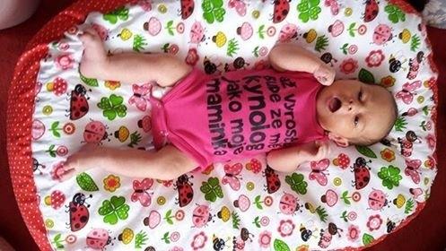 pelíšek pro miminko - beruška červená