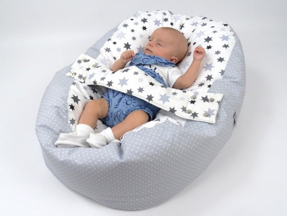 Pelíšek pro miminko STARS, 100% bavlna