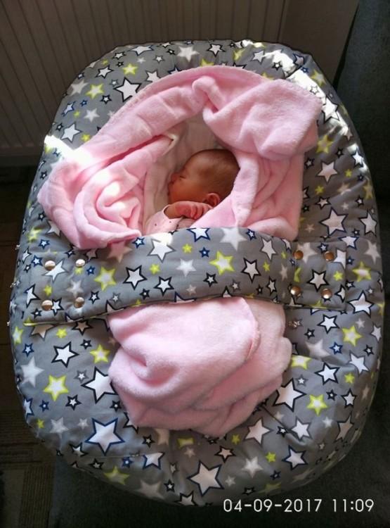 Monika - pelíšek (vak) pro miminko, hvězdy šedé