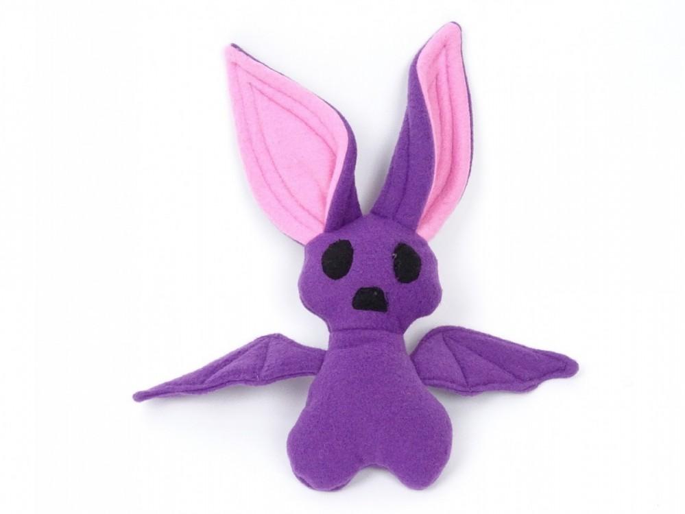 fialový netopýr, kvalitní, české hračky.