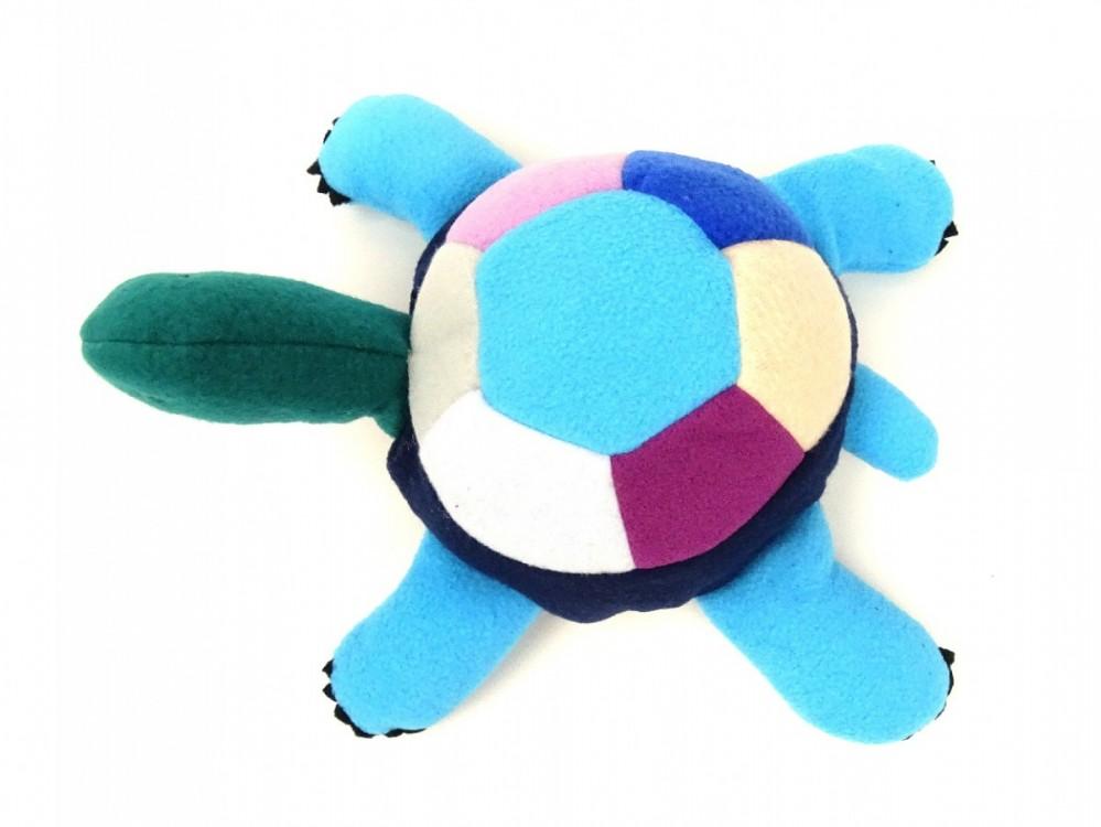 želva modrá, krásné, látkové hračky z fkeece