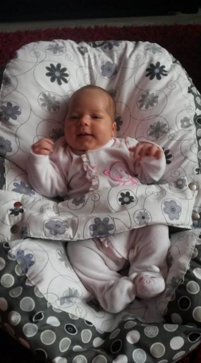 Petra - pelíšek pro miminko, louka šedá