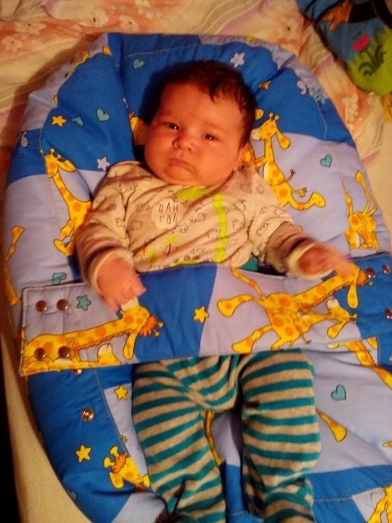 Hanka - pelíšek pro miminko, Žirafa modrá