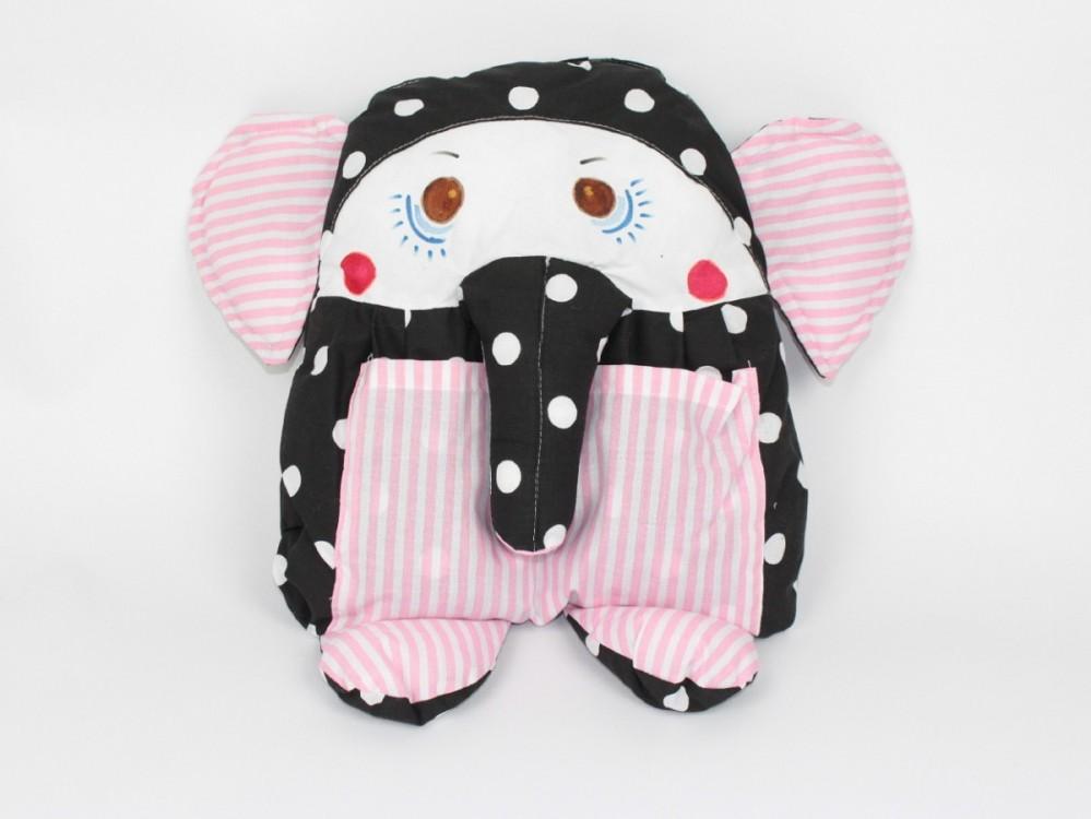 dětský polštářek slon růžový