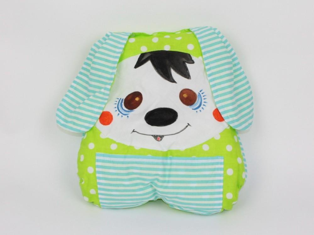 dětský polštářek pejsek zelený