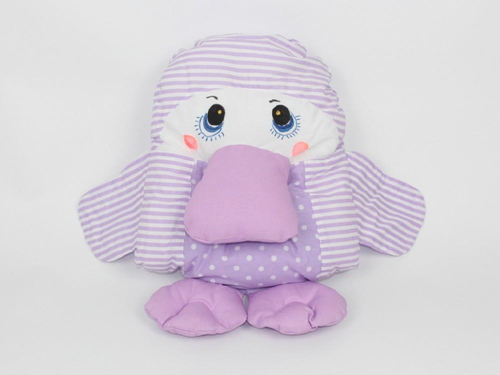 dětský polštářek ptakopysk fialový