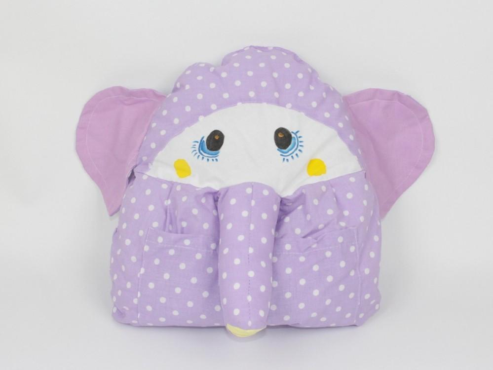 dětský polštářek slon fialový