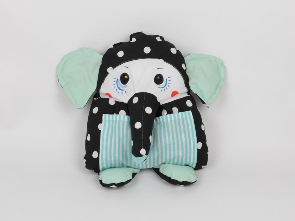 dětský polštářek slon tyrkysový