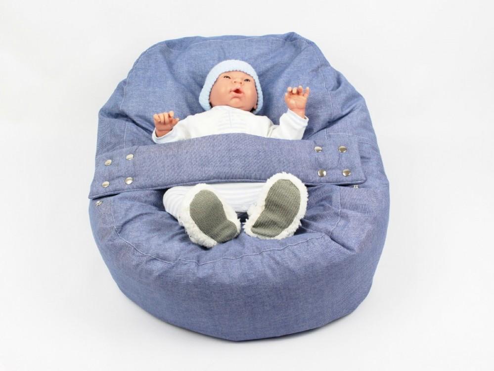 Relaxační a polohovací vak pro miminko DENIM