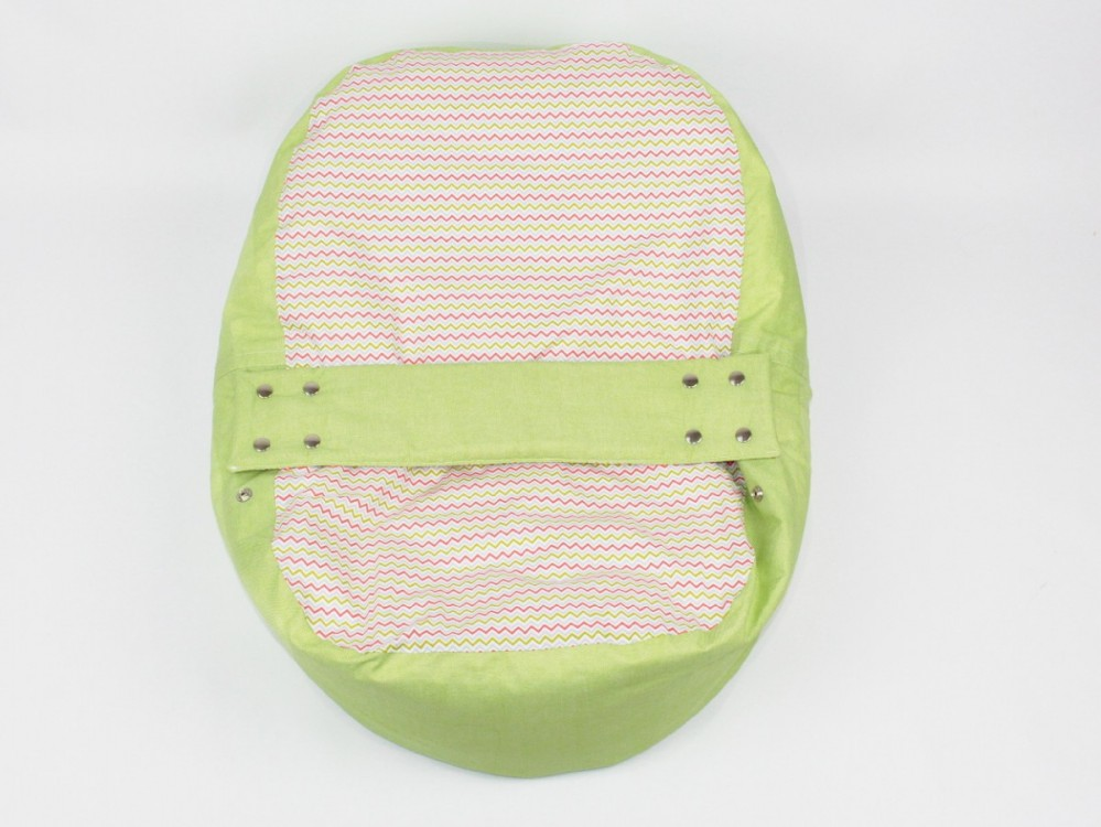 Lehátko, pelíšek pro miminko, 100% bavlna, VLNKY ZELENÉ č.2