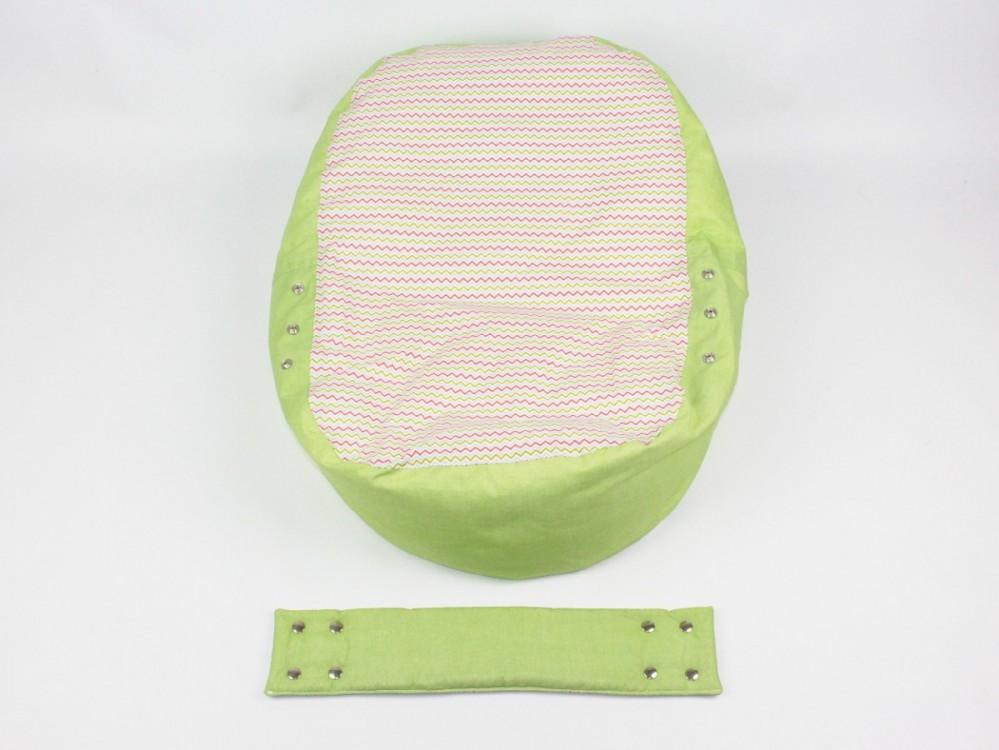 Lehátko, pelíšek pro miminko, 100% bavlna, VLNKY ZELENÉ č.3