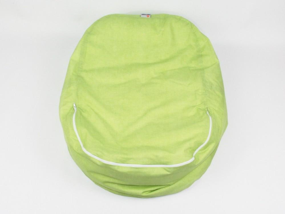 Lehátko, pelíšek pro miminko, 100% bavlna, VLNKY ZELENÉ č.4