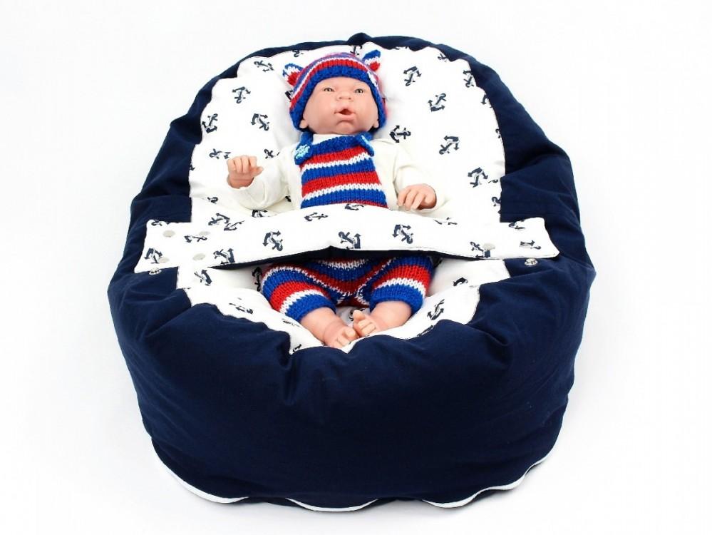 Pelíšek pro miminko, 100% bavlna, KOTVY