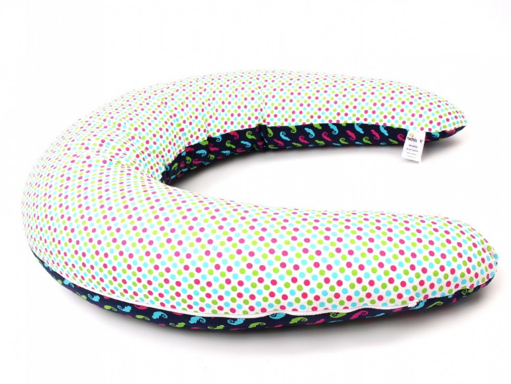 Kojící polštář Standard CHAMELEON MODRÝ, 100% bavlna č.2