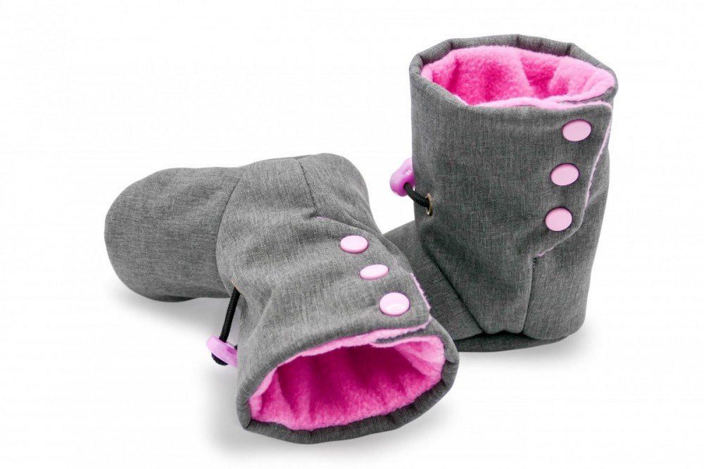 Nosící botičky růžové vel: 11, 12,5 a 14 cm