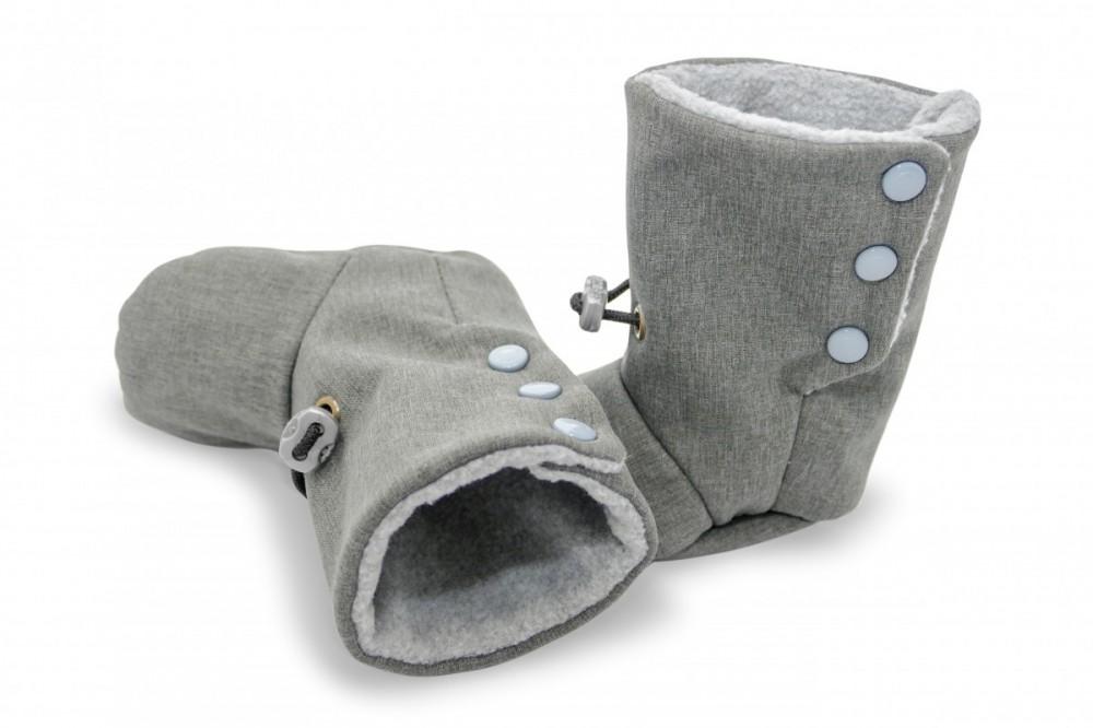 Nosící botičky šedé vel: 11, 12,5 a 14 cm