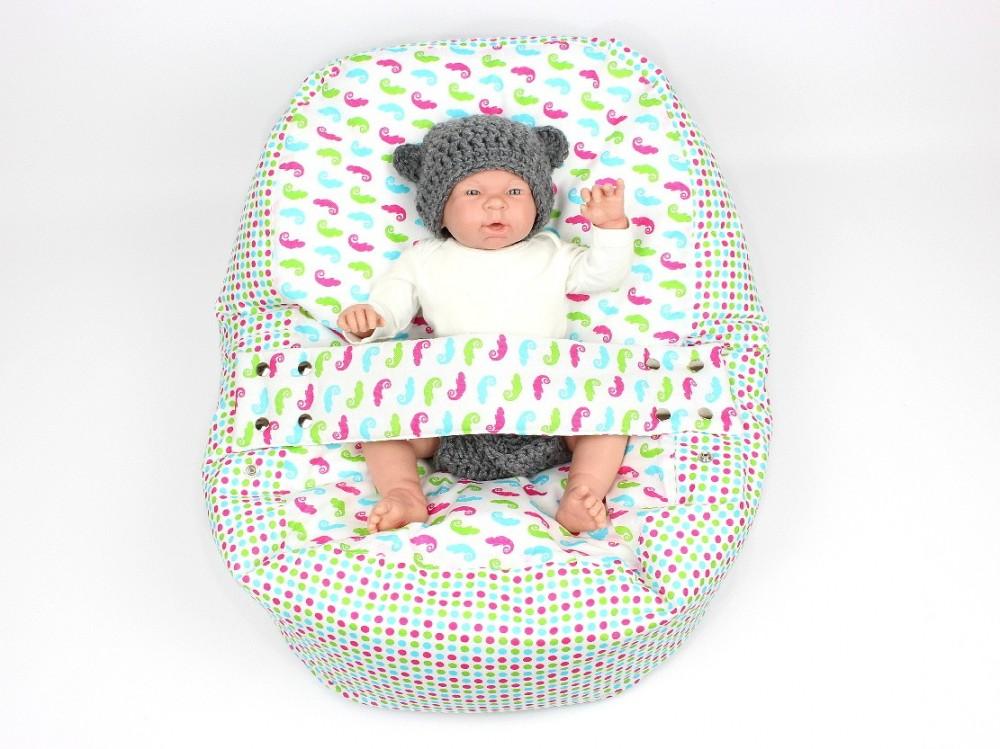 Pelíšek pro miminko, 100% bavlna, CHAMELEON BÍLÝ