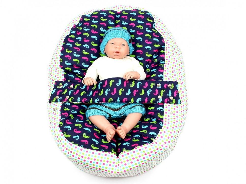 Pelíšek pro miminko, 100% bavlna, CHAMELEON Modrý