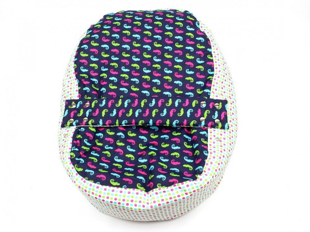 Pelíšek pro miminko, 100% bavlna, CHAMELEON Modrý č.2