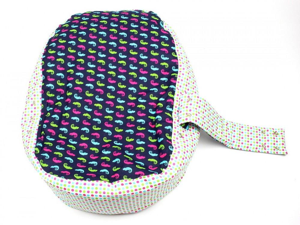 Pelíšek pro miminko, 100% bavlna, CHAMELEON Modrý č.3