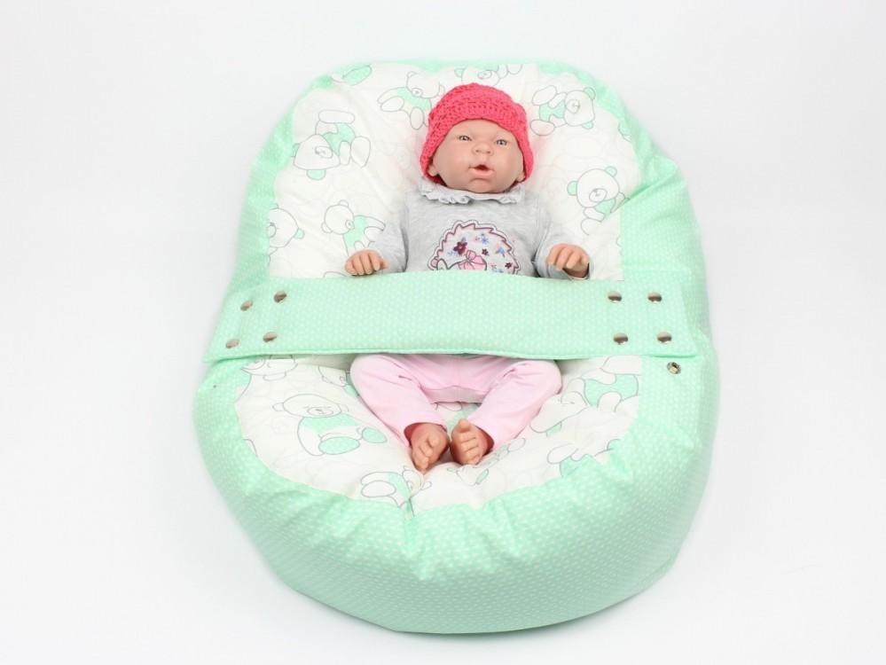 Pelíšek pro miminko MÉĎA ZELENÝ 100% bavlna