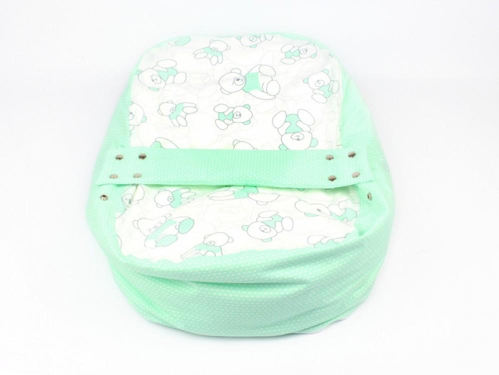 Pelíšek pro miminko MÉĎA ZELENÝ 100% bavlna 1