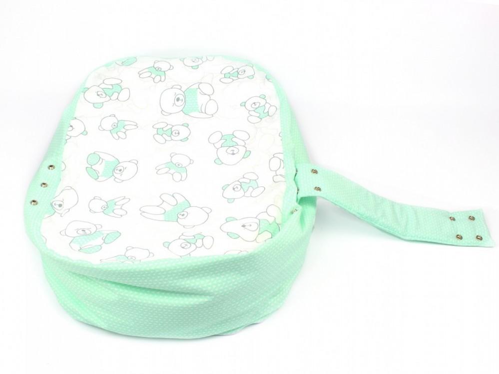 Pelíšek pro miminko MÉĎA ZELENÝ 100% bavlna 2