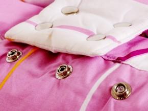 bezpečností pásek na pelíšku pro miminko, zapínání na druky